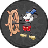 STEAMBOAT WILLIE - MICKEY MOUSE - 2017 1 oz Silver Coin - Color &Ruthenium