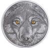 WOLF Glow-In-The-Dark Eyes $15 Silver Coin 2017 Canada