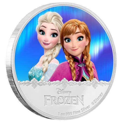 Elsa & Anna - Disney Frozen Series- 2016 Niue 1 oz Silver Coin