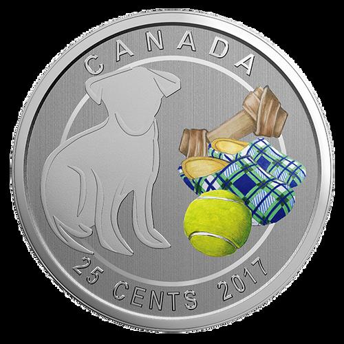 LOVE MY DOG - 25-Cent Coin - RCM Canada 2017