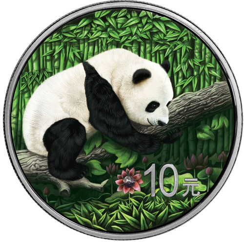 Ounce of Space - Panda - with Nantan Meteorite 10 Y 2016 China