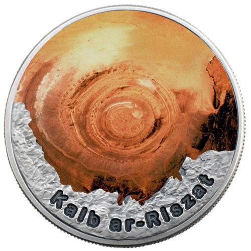 EYE OF THE SAHARA Circle Of Secrets 1 Oz Silver Coin 2$ Niue 2016  r