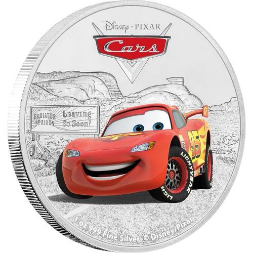 LIGHTNING MCQUEEN - PIXAR CARS - 1 Oz Silver Coins 2$ Niue 2017