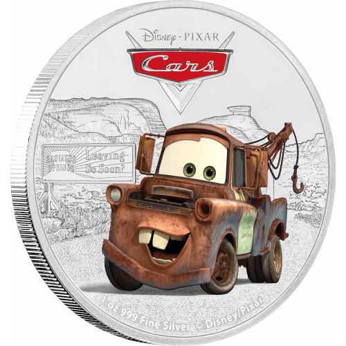 TOW MATER - PIXAR CARS - DISNEY - 1 Oz Silver Coins 2$ Niue 2017
