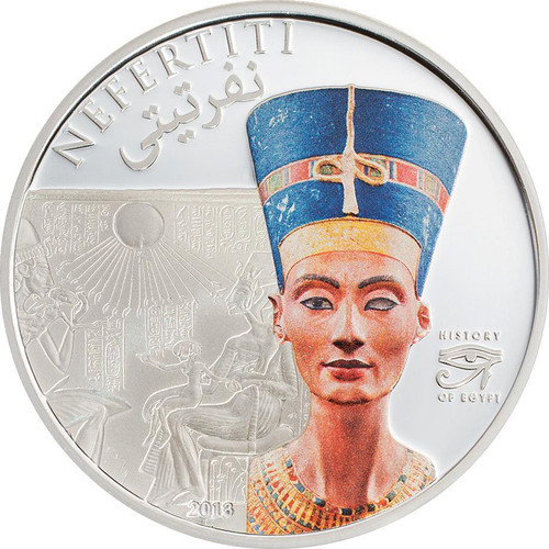 NEFERTITI $5 Proof Silver Coin 2013 Cook Islands