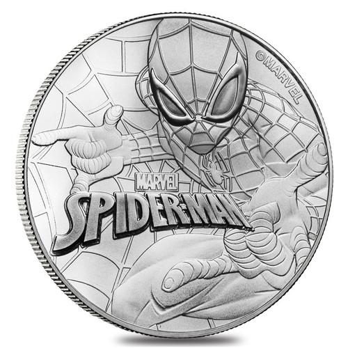 2017 1 oz Tuvalu $1 Spider-Man Marvel Series 9999 Fine Silver BU