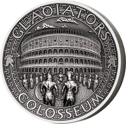 COLOSSEUM Gladiators 2 Oz Silver Coin