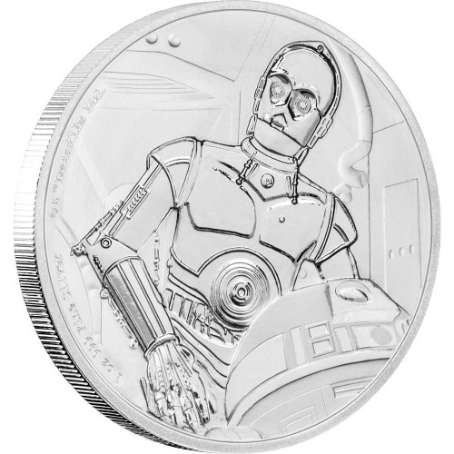 C-3PO - STAR WARS CLASSIC - 1 oz Pure Silver Coin Niue 2017