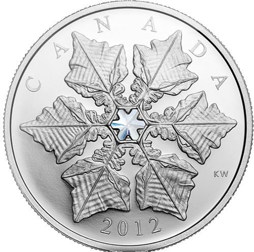 Crystal Snowflake Fine Silver $20 Coin Canada 2012