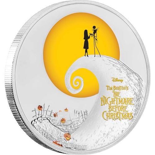 NIGHTMARE BEFORE CHRISTMAS Disney 1 Oz Silver Coin 2$ Niue 2017