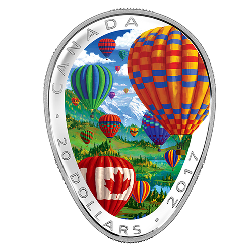 HOT AIR BALLOONS - 2017 $20 1 oz Fine Silver Coin