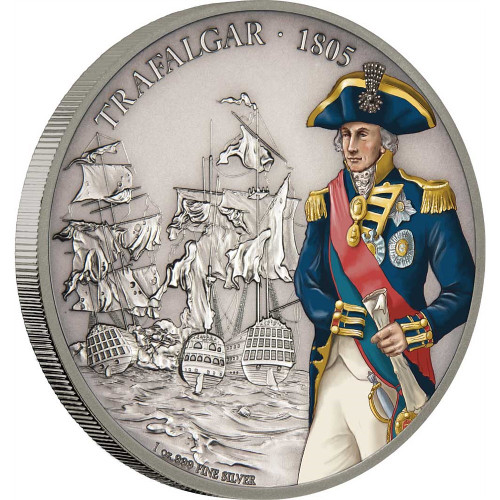 BATTLE OF TRAFALGAR Battles of History 1 Oz Silver Coin 2$ Niue 2017