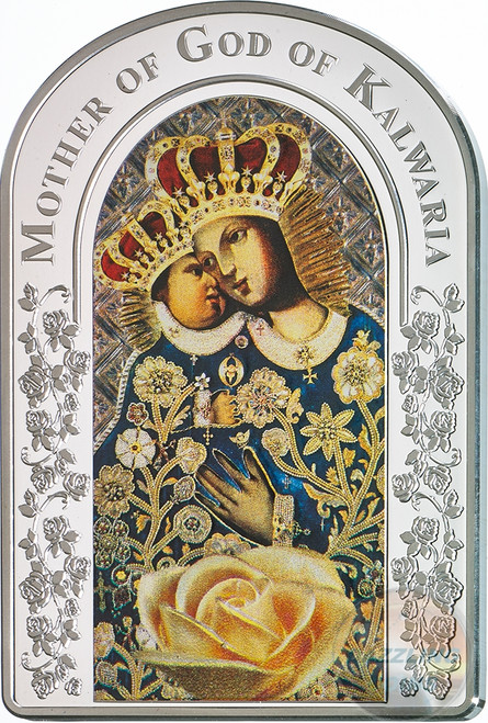 OUR LADY OF CALVARY Madonna Silver Coin 2$ Tokelau 2017