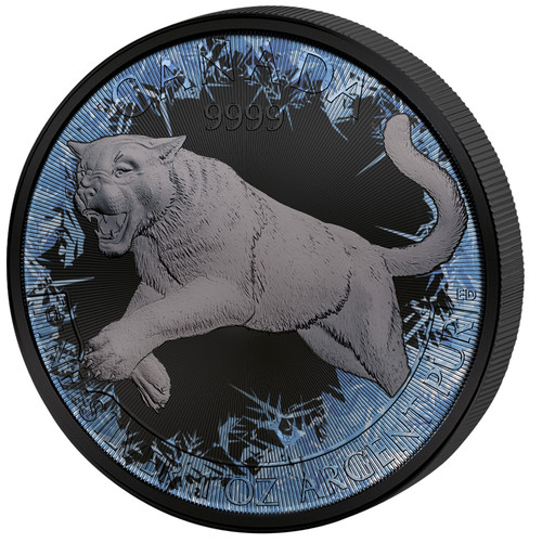COUGAR Deep Frozen Edition 1 oz Silver Coin 5$ Canada 2016