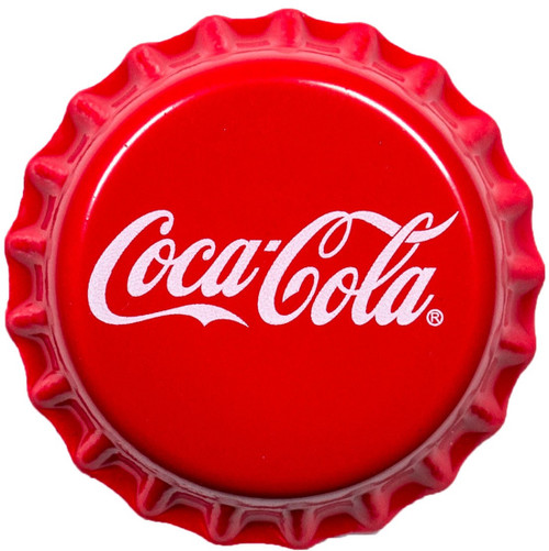 COCA COLA Bottle Cap Shape Silver Coin 1$ Fiji 2018