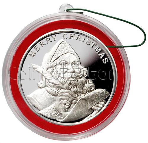 2013 Santa Claus Christmas Round Silver 1 oz .999