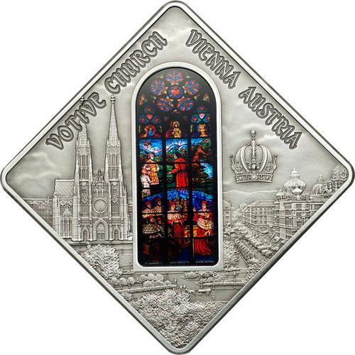 Votive Church Vienna - Sacred Art Silver Coin 10$ Palau 2012