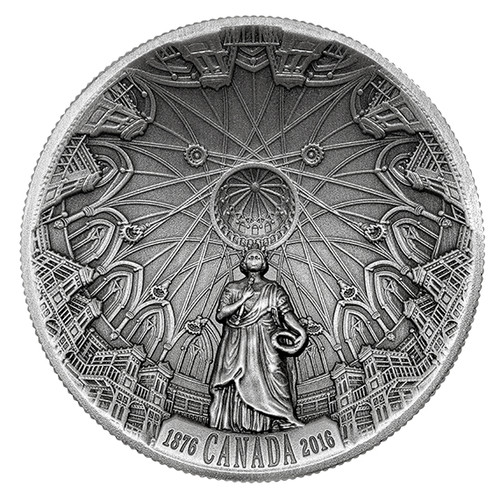 140th. Ann. Library of Parlament - 2016 $25 Silver Concave - Ultra HR Coin