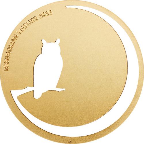 OWL - Mongolian Nature - Silver Coin 500 Togrog 2016