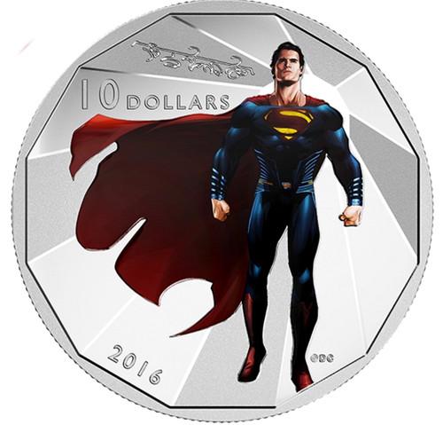 SUPERMAN - Batman Versus Superman Dawn of Justice 2016 $10 Silver Coin (201420)