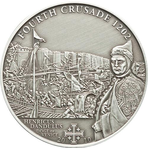 4th.CRUSADE: Dandolo of Venice Silver Coin 5$ Cook Islands 2010