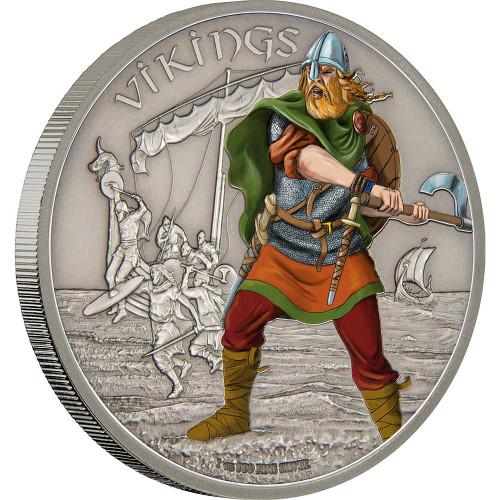 WARRIORS OF HISTORY - VIKINGS - 2016 1 oz Silver Coin - Niue