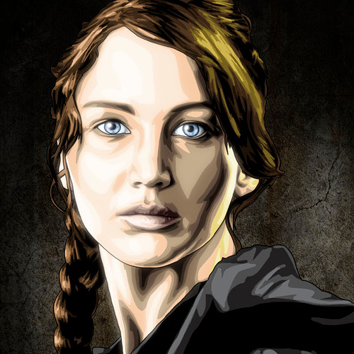 Hunger Games, Katniss Everdeen, Jennifer Lawrence, Brian C. Roll, Odyssey Art
