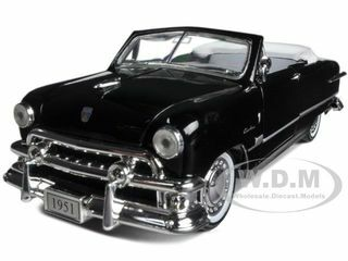 1951 Ford Custom Convertible Black 1/32 Diecast Car Model Arko Products 05121