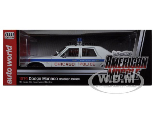 1974 dodge monaco chicago department police car limited to 2000pc 1 18 diecast model car. Black Bedroom Furniture Sets. Home Design Ideas