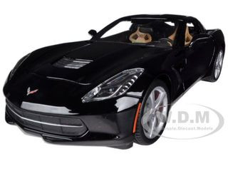 2014 Chevrolet Corvette C7 Stingray Black 1/18 Diecast Model Car Maisto 31182