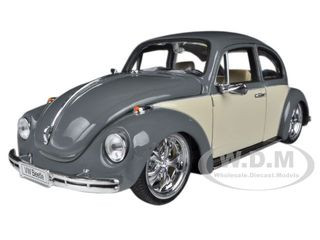 Volkswagen Beetle Low Rider Grey 1/24 Diecast Car Model Welly 22436
