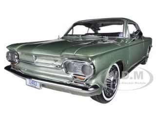 1963 Chevrolet Corvair Coupe Laurel Green 1/18 Diecast Car Model Sunstar 1483