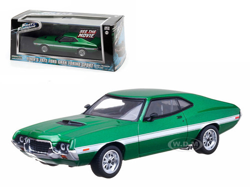 """Home Ford Models Fenix's 1972 Ford Gran Torino Green """"The Fast and The"""