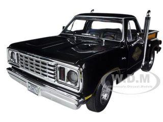 1978 Dodge Midnite Express Pickup Truck Black Limited to 1500pc 1/18 Diecast Model Car Autoworld AMM1016