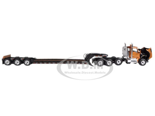 Kenworth T880 Tri Axle Lowboy Trailer Aztec Gold / Black 1