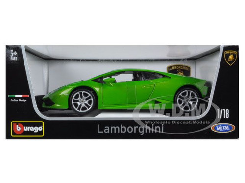 lamborghini huracan lp610 4 green 1 18 diecast car model bburago 11038. Black Bedroom Furniture Sets. Home Design Ideas
