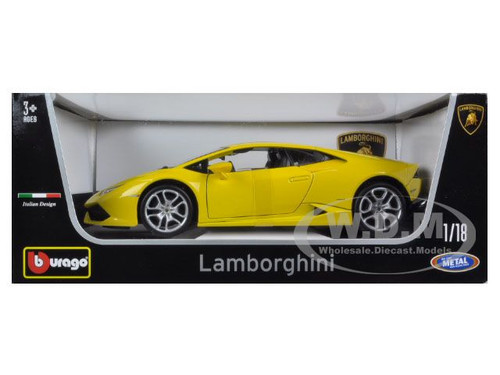 lamborghini huracan lp610 4 yellow 1 18 diecast car model bburago 11038. Black Bedroom Furniture Sets. Home Design Ideas