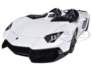lamborghini aventador j white 118 diecast car model autoart 74674