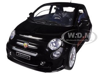 fiat 500 abarth black. fiat 500 abarth black 118 diecast car model motormax 79168 d