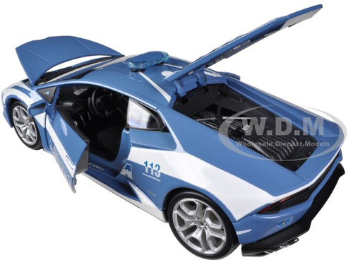 lamborghini huracan lp610 4 police 1 18 diecast car model bburago 11041. Black Bedroom Furniture Sets. Home Design Ideas