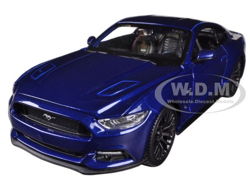 Home Ford Models 2015 Ford Mustang GT 5.0 Blue 1/24 Diecast Car Model ...
