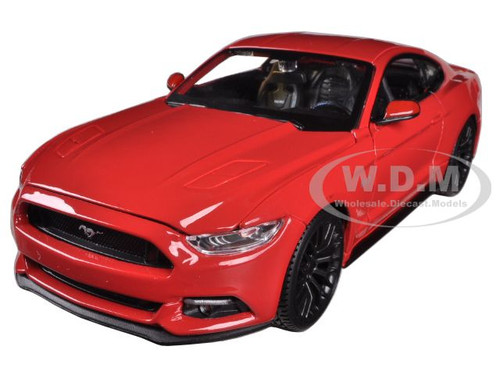 Home Ford Models 2015 Ford Mustang GT 5.0 Red 1/24 Diecast Car Model ...
