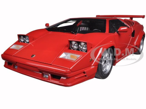 lamborghini countach 25th anniversary edition red 1 18 diecast model car autoart 74534. Black Bedroom Furniture Sets. Home Design Ideas