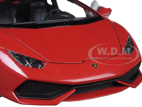lamborghini huracan lp 610 4 red 1 18 diecast model car welly 18049. Black Bedroom Furniture Sets. Home Design Ideas