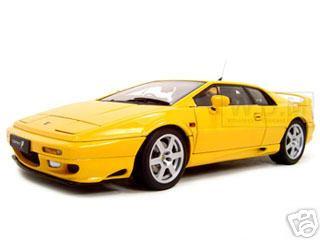 lotus esprit v8 yellow 1 18 diecast model car autoart 75313. Black Bedroom Furniture Sets. Home Design Ideas