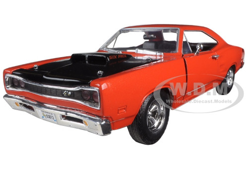 1969 dodge coronet super bee orange 1 24 diecast model car by motormax 73315 ebay. Black Bedroom Furniture Sets. Home Design Ideas