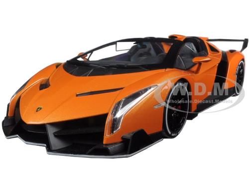 lamborghini veneno roadster orange 118 diecast model car kyosho 09502 or