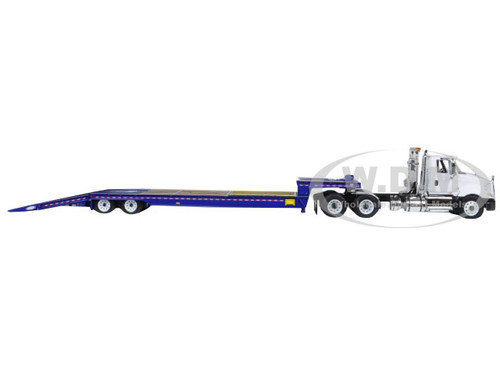 International ProStar with Ledwell Hydratail Trailer White