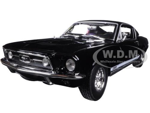 1967 ford mustang gta fastback black 118 diecast model car maisto 31166