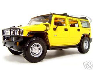 Hummer Suv Yellow Diecast Model Car Maisto